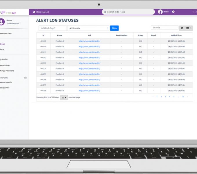 UpCheckApp : Web Sitesi, Domain, Hosting Up Durumu Kontrolü