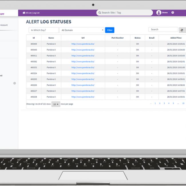 UpCheckApp Websitesi, domain, hosting up durumu kontrolü