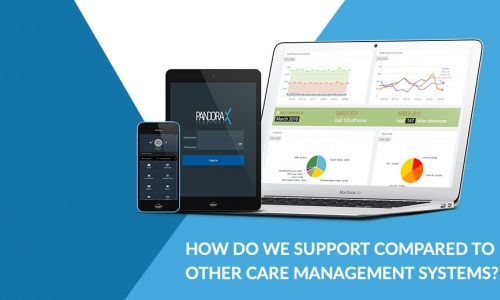 How do we support compared to other care management systems